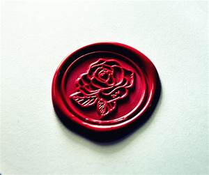 beautiful rose wax seal stamp flower wax sealing wedding With letter wax and stamp
