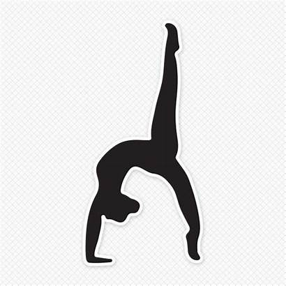 Gymnast Solid Silhouette Graphic Gymnastics Sticker Restickable