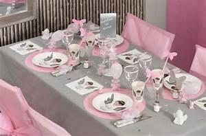 Deco Table Rose Et Gris : deco bapteme theme princesse ~ Melissatoandfro.com Idées de Décoration