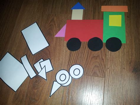 crafts actvities and worksheets for preschool toddler and 630 | shapes train