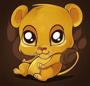 Cute Cartoon Animals with Big Eyes | Cute Lion Tutorial by ...