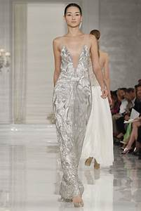 deep v neck metallic wedding dress with sheer illusion straps With deep v wedding dress
