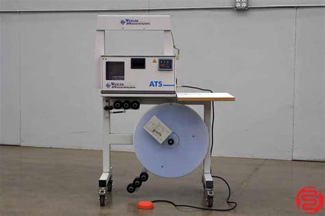 wexler ats ce  banding machine boggs equipment