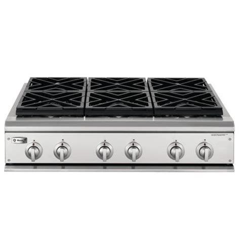 stacked monogram ge monogram 36 quot professional gas cooktop with 6 burners