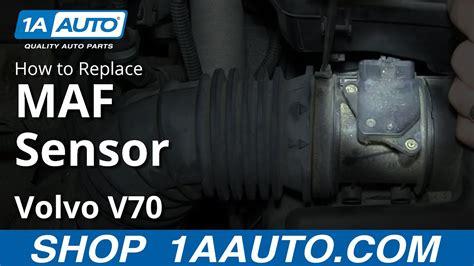 install replace mass air flow sensor maf volvo