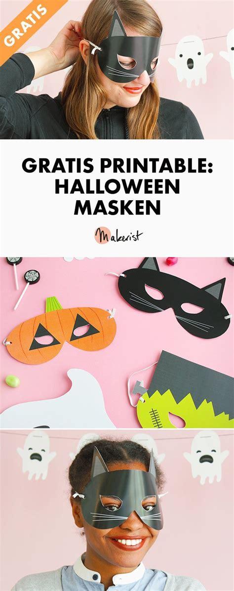 gratis printable halloween masken makerist magazin