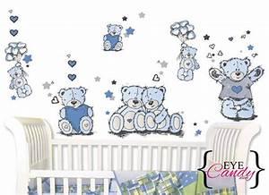 Wall decor tatty teddy boys baby kids stickers