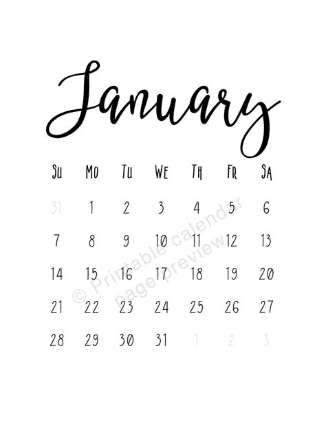 funny jan  calendars   freemium templates