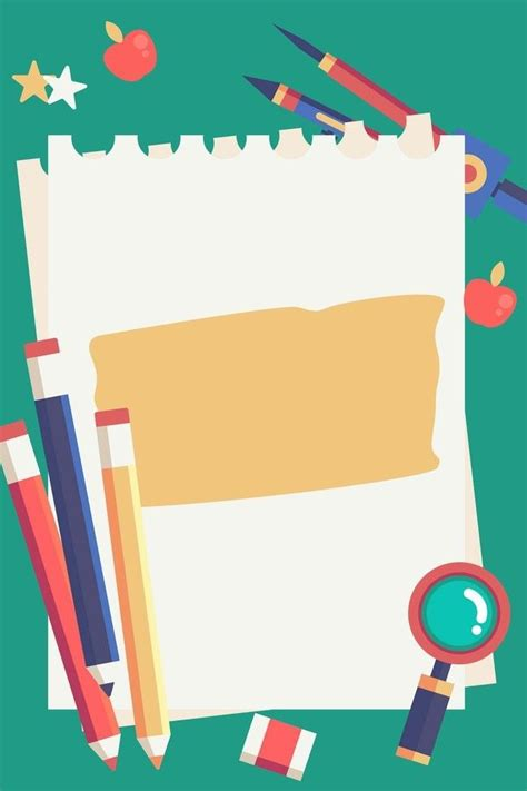 Abstract Wallpaper Design For School by Painted School Season Stationery Promotional