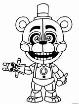 Coloring Freddy Printable sketch template