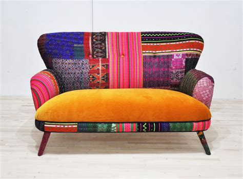 canape patchwork patchwork sofa honey