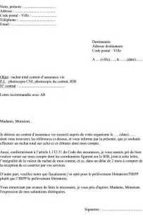 Résiliation Contrat Assurance Vie by Mod 232 Le De Lettre Demander Le Rachat Total D Un Contrat