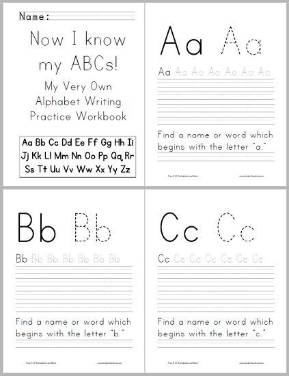 Abc Alphabet Workbook For Kids  Free To Print (pdf File