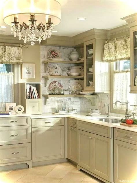 nice  small kitchen french country style ideas https