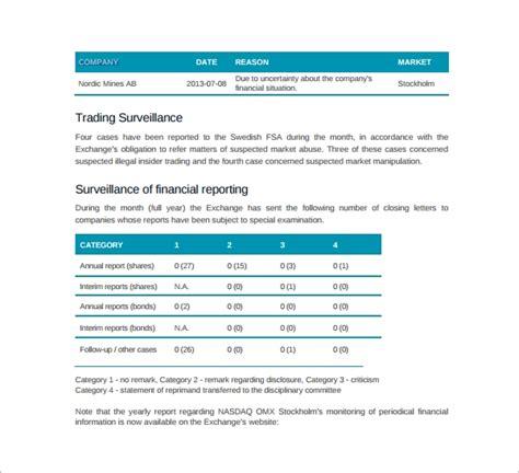 company report templates sample templates