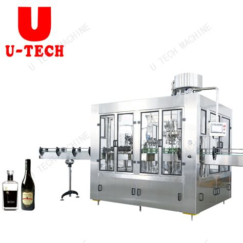 china ml ml ml glass bottle filling bottling capping sealing machine  alcohol drink