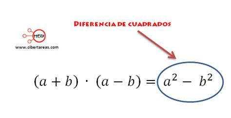 diferencia de cuadrados matematicas  cibertareas
