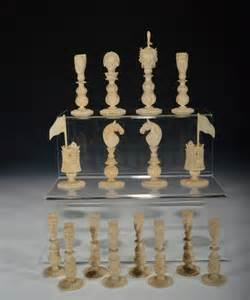 Antique Ivory Chess Set