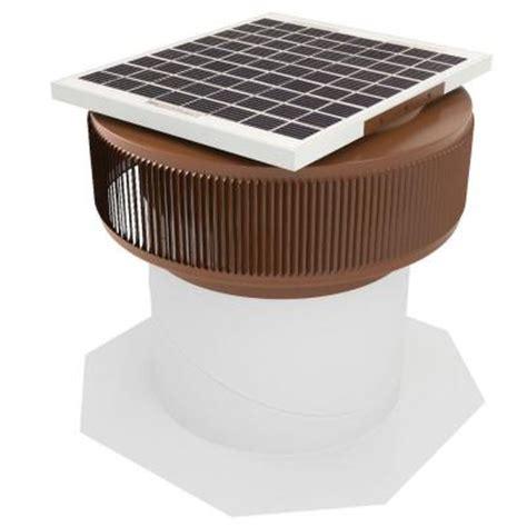 solar powered home fans active ventilation 740 cfm brown powder coated 10 watt