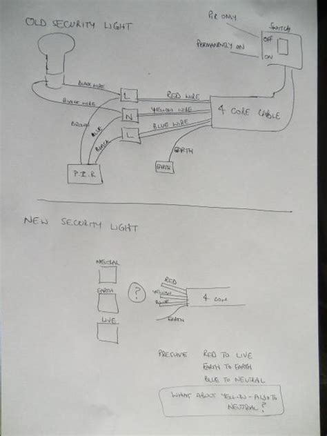 wiring for outside security light pir diynot forums