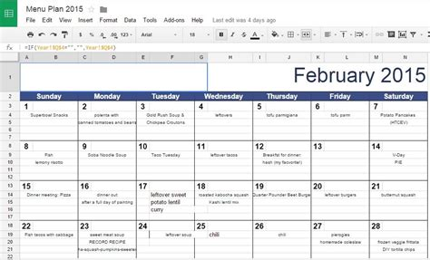 google drive calendar tips and tools for meal planning 2015 edition relishments