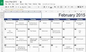 tips and tools for meal planning 2015 edition relishments With calendar template for google drive