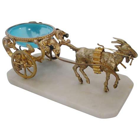 antique l blue opaline goat cart from worldrarities on