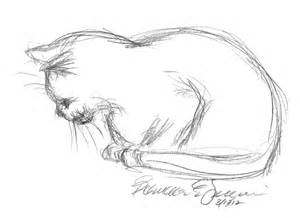 cat sketch daily sketch when the bag swallowed mimi the creative cat