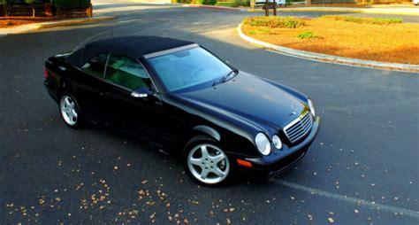 mercedes clk  convertible black california car