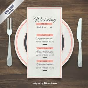 free wedding menu templates wedding menu template in style vector free