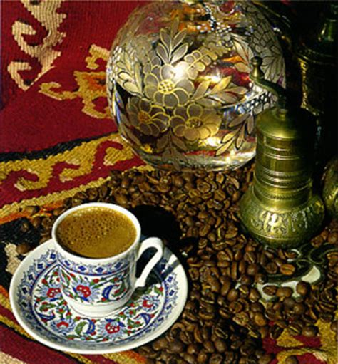 Hot, sweet, dense, with a hint of cardamom. Explore Turkey :: Turkish Cuisine :: Turkish Coffee