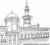 Coloring Architecture Islamic Iqra Books sketch template