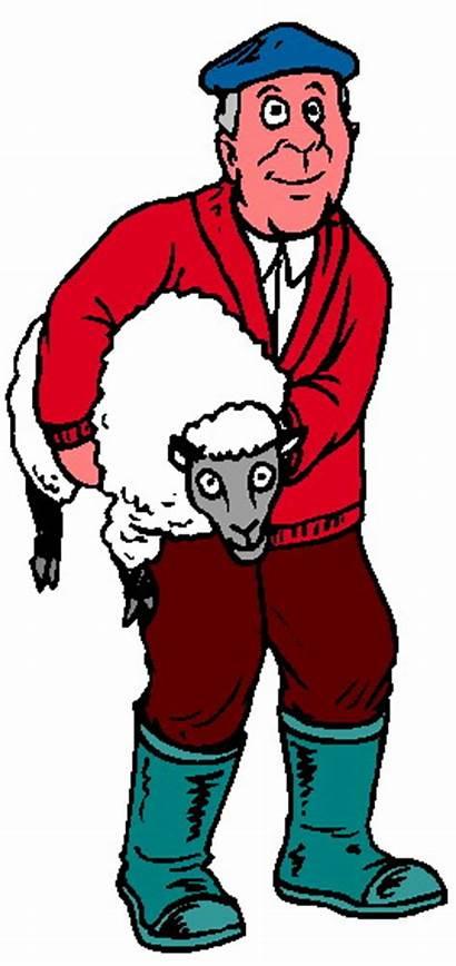 Sheep Clip Clipart Farming Farmer Sheeps Cartoon