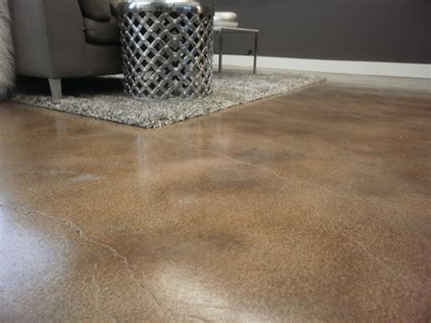 Water Based Floor Stain - interior floor with water based concrete stain