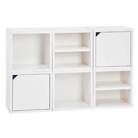 Modular Cube Bookcase by Way Basics 6 Cubby Connect Cube System Modular Storage