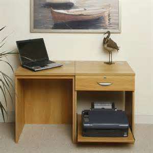 home office solutions 1 drawer computer desk with printer storage wayfair uk