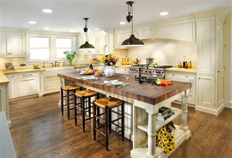 butcher block kitchen island with seating 20 exles of stylish butcher block countertops 9341