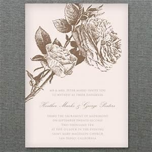 natural rose wedding invitation template download print With wedding invitation templates with roses