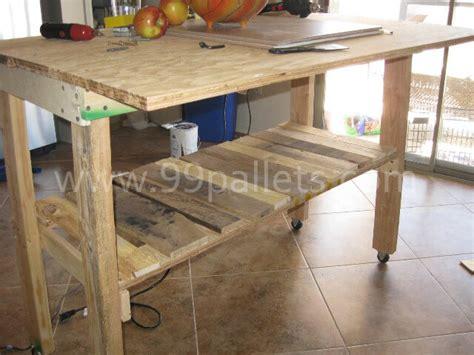 Diy Pallet Island Kitchen Table