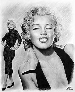 The Glamour Days Marilyn Monroe Drawing by Andrew Read
