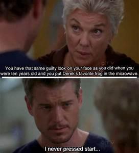 'I never pressed start.' Hahahaha | Grey's Anatomy ...