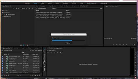 Link Media Premiere by Ingest And Proxy Workflow In Adobe Premiere Pro