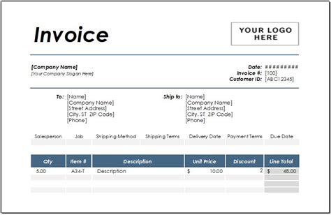 performance invoice template  excel excel