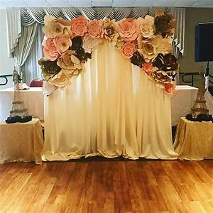 The 25+ best ideas about Paper Flower Backdrop on
