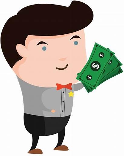 Money Clipart Cartoon Holding Cash Clip Portfolio