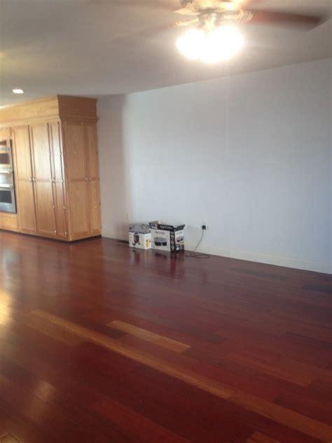 cherry floors need wall color help