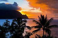 Kauai Island Hawaii Sunset