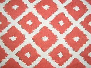 Brentwood Textiles Ikat - Coral Fabric / ITD Ibis Coral ...