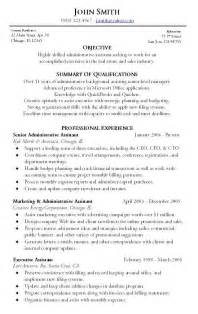resumes objective or summary administrative assistant resume sle writing resume sle writing resume sle