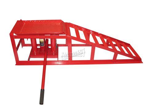 Foxhunter Vehicle Car Ramp Lift 2 Ton Hydraulic Jack